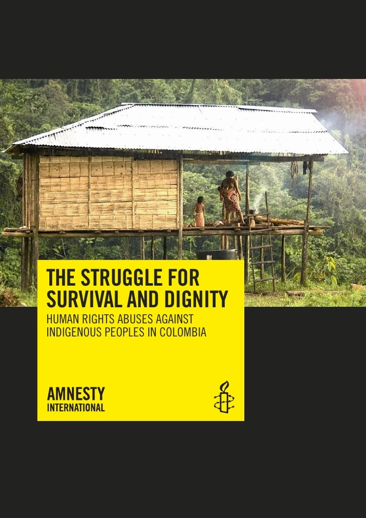 THE STRUGGLE FOR SURVIVAL AND DIGNITY HUMAN RIGHTS ABUSES AGAINST INDIGENOUS PEOPLES IN COLOMBIA