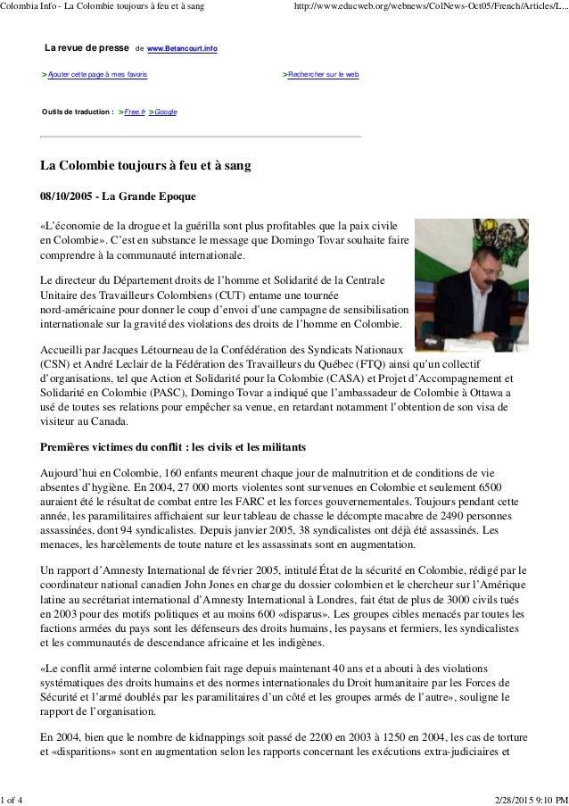 La revue de presse de www.Betancourt.info >Ajouter cette page à mes favoris >Rechercher sur le web Outils de traduction : ...