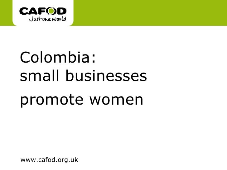 Colombia:  small businesses promote women