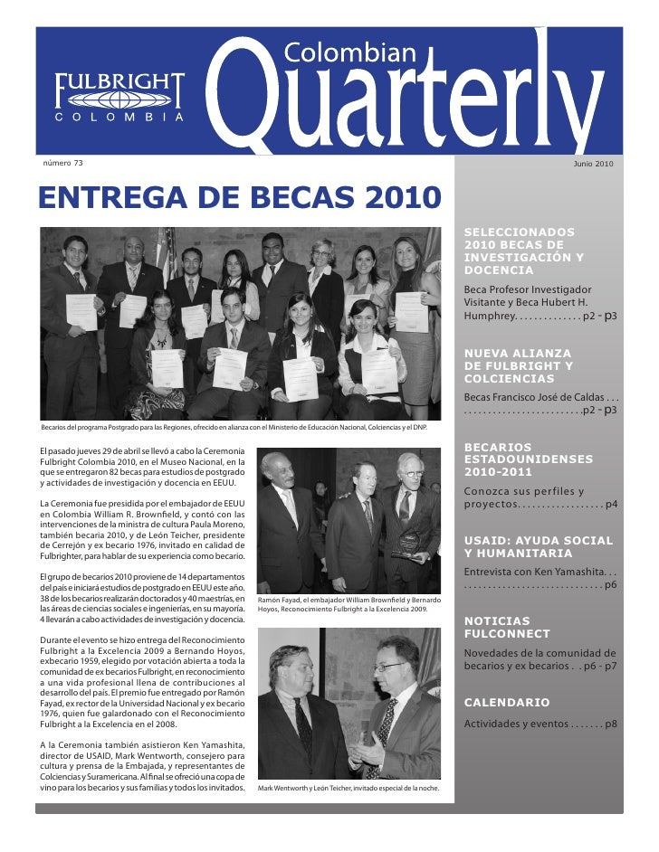 Colombian Quarterly • Junio // 2010                                                                                       ...