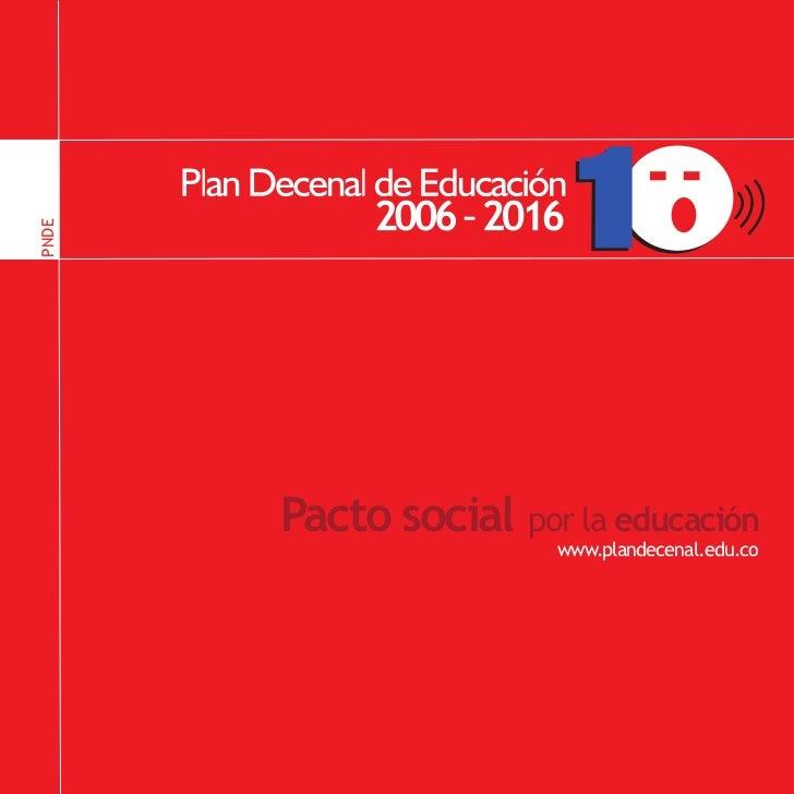 PNDE                                                PNDE       Pacto social por la educación                       www.pla...