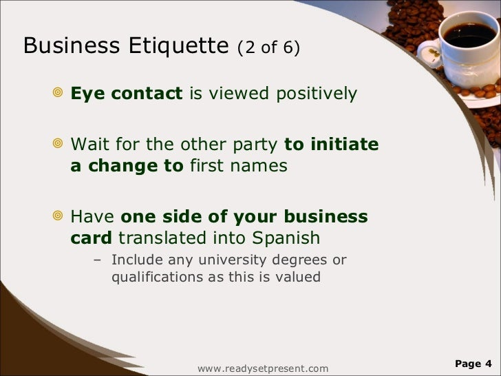 Colombia powerpoint country business etiquette reheart Gallery