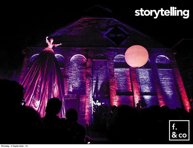 storytelling Monday, 2 September, 13