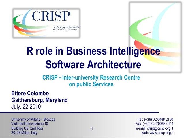 University of Milano - Bicocca Viale dell'Innovazione 10 Building U9, 2nd floor 20126 Milan, Italy Tel: (+39) 02 6448 2180...
