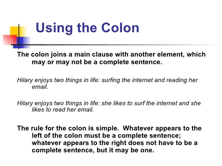 Punctuation Basics: The Colon