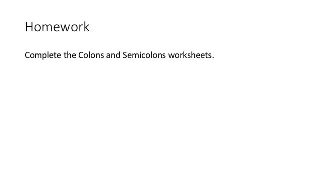 CSC – Semicolon Practice Worksheet