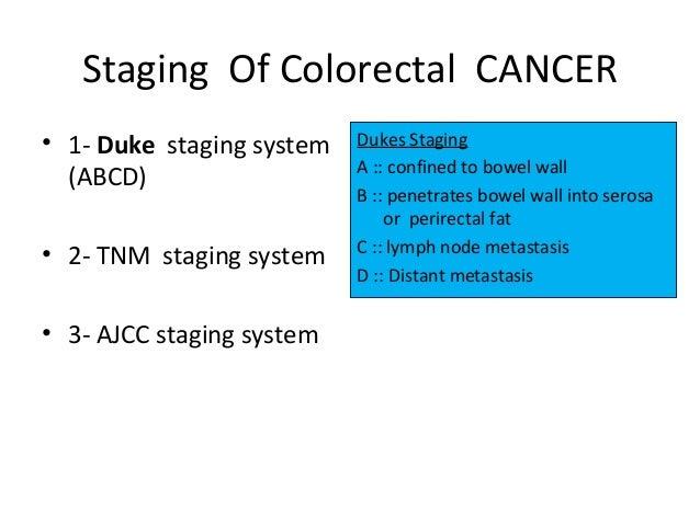 Colon cancer lecture