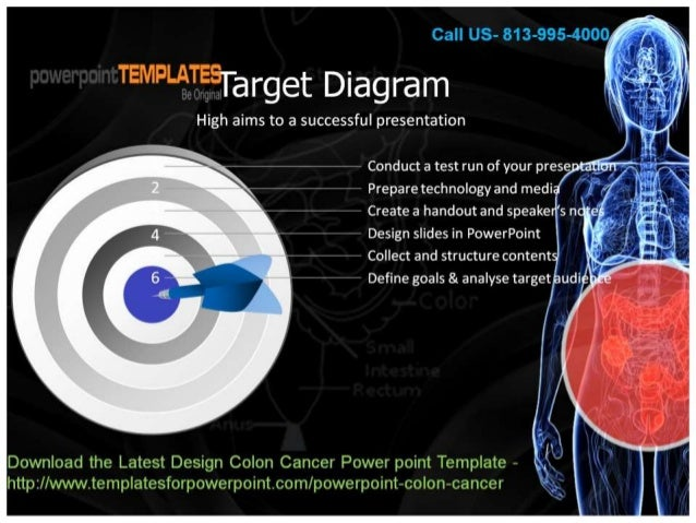 Latest Design Colon Cancer Power Point Template