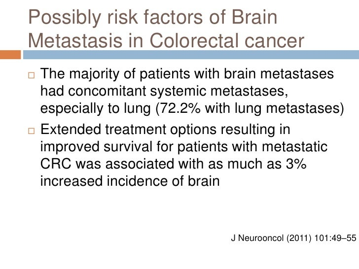 Colon Cancer With Brain Metastasis