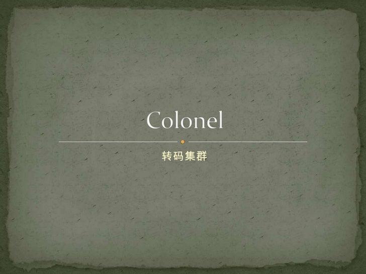 转码集群<br />Colonel<br />