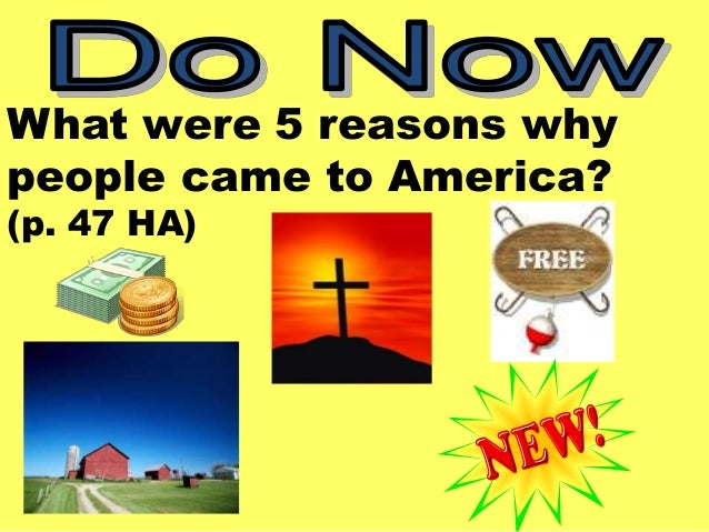 Colonial fair ppt colonial fair ppt what were 5 reasons why people came to america p toneelgroepblik Image collections