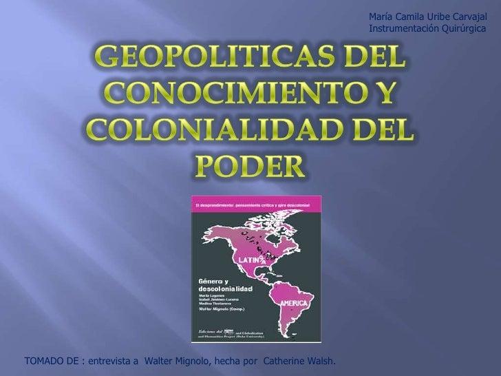 Colonialidad 1