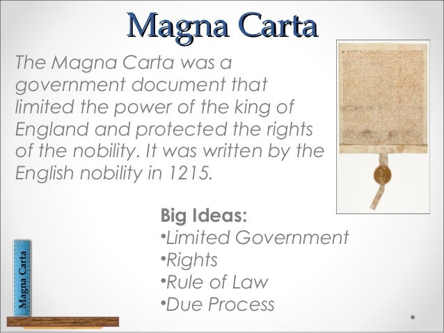 a discussion on the impact of the magna carta on the american constitution There are strong influences from the magna carta in the american bill of rights, written in 1791 to this day there is a 1297 copy in the national archives in washington dc.
