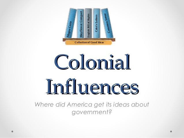 Sense on Comm  Cato's Letters  English Bill of Rights  Mayflower Compact  Magna Carta  Collection of Good Ideas  Colonial ...