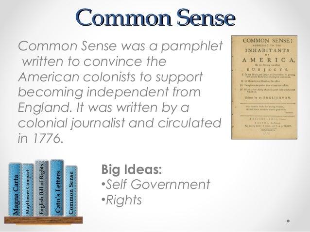 9 common sense common sense catos letters