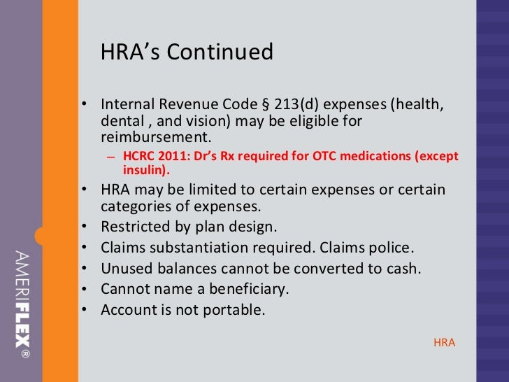 Irs Code Section 213 D Eligible Medical Expenses ...