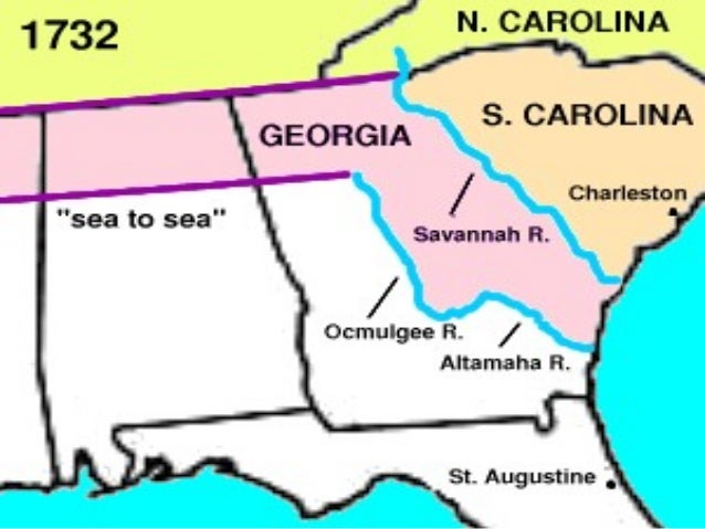 Georgia's Colonization: Map Of Georgia Colony In 1732 At Usa Maps