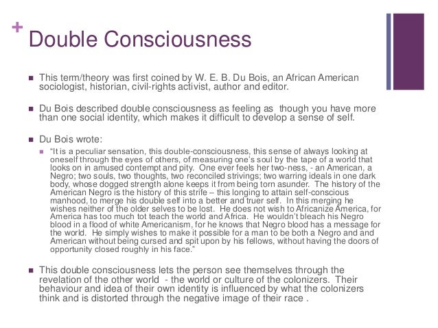 contemporary example of double consciousness