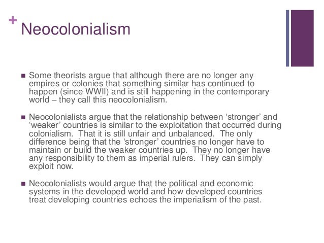 Colonialism Post Colonialist Theory Globalisation The Media