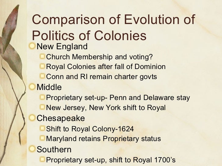 differences between northern middle and southern colonies