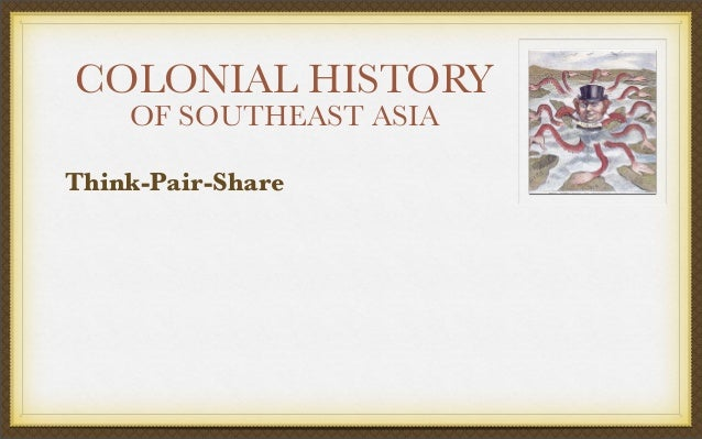 COLONIAL HISTORY OF SOUTHEAST ASIA Think-Pair-Share