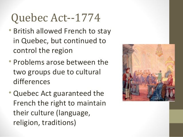 Royal proclamation, The Quebec act