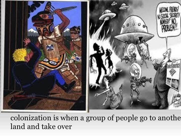 colonization is when a group of people go to anotherland and take over