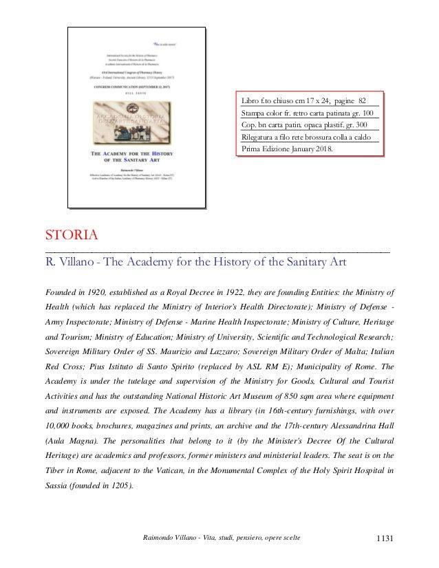 Raimondo Villano - Vita, studi, pensiero, opere scelte 1131 STORIA _______________________________________________________...