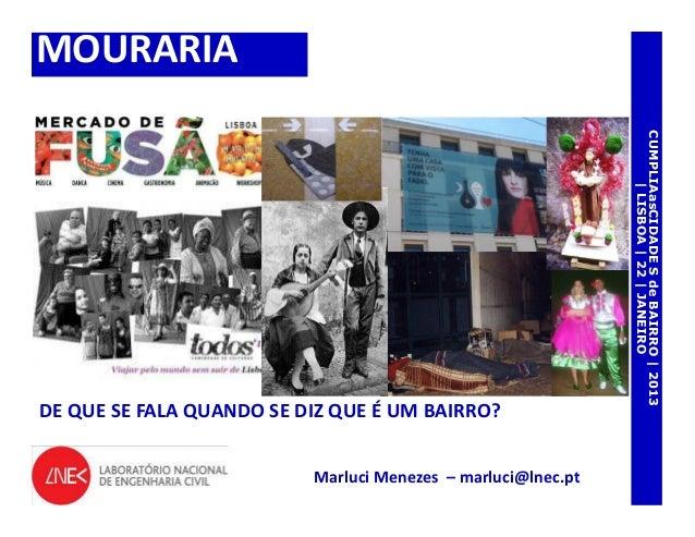 MOURARIA                                                              CUMPLIAasCIDADE S de BAIRRO | 2013                  ...