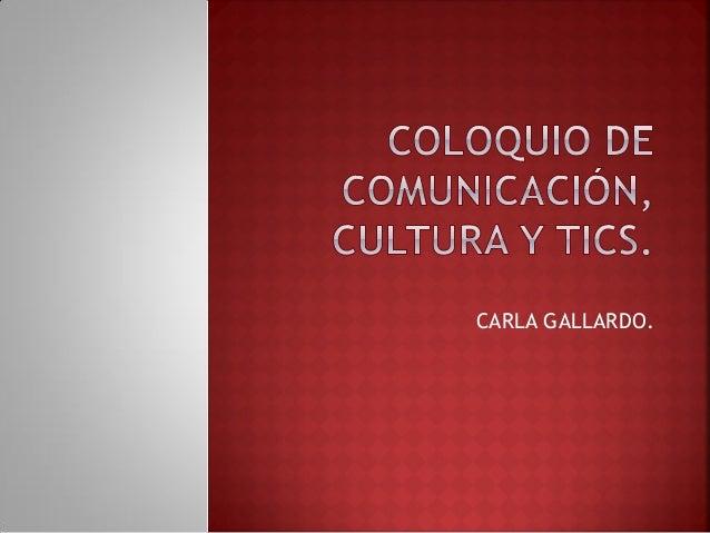 CARLA GALLARDO.