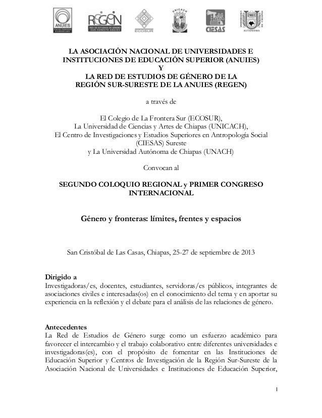 LA ASOCIACIÓN NACIONAL DE UNIVERSIDADES E      INSTITUCIONES DE EDUCACIÓN SUPERIOR (ANUIES)                             Y ...
