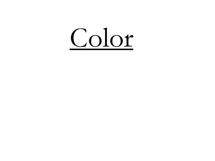 Color<br />
