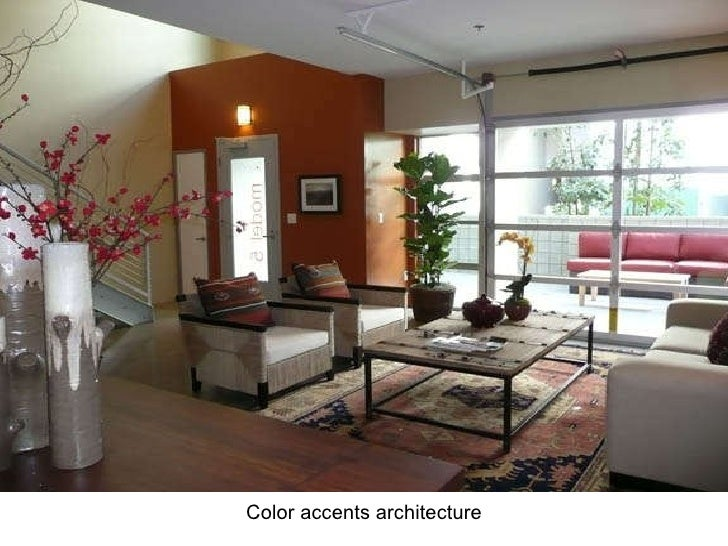 <ul><li>Color accents architecture </li></ul>