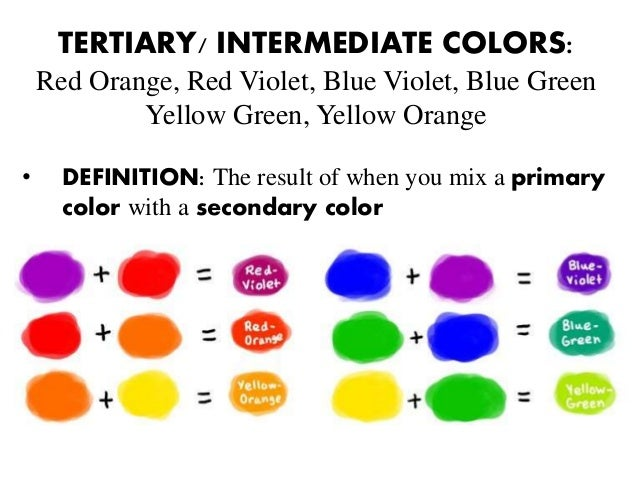 5 TERTIARY INTERMEDIATE COLORS