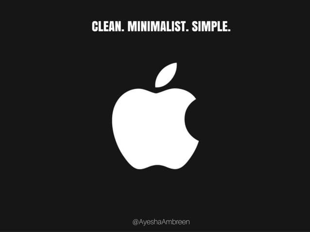Apple's Logo: Clean. Minimalist. Simple.