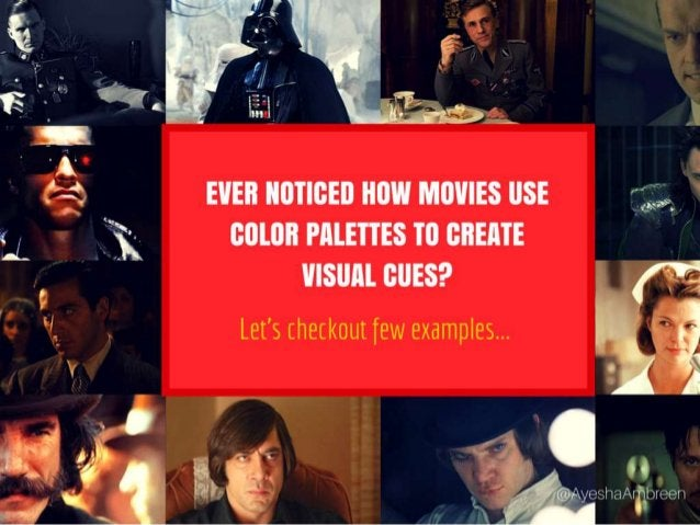 Ever noticed how movies use color palettes to create visual cues? Let's checkout few examples...