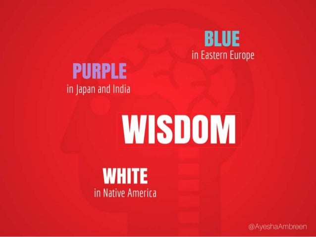 Wisdom is purple in Japan and India, Blue in Eastern Europe and White in Native America.