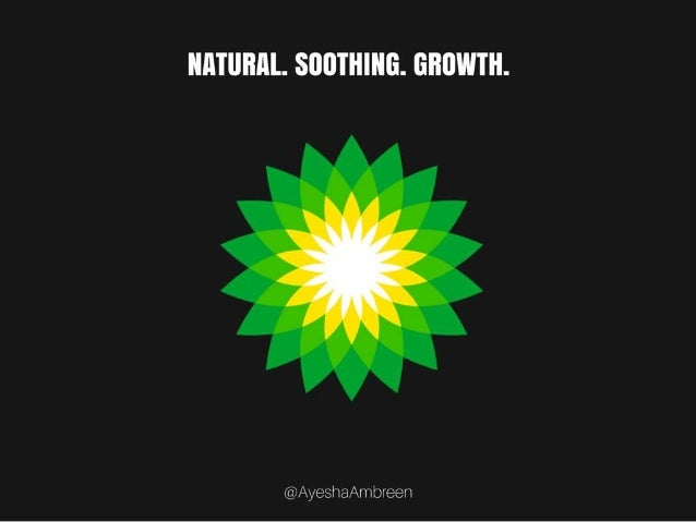 BP's Logo: Natural. Soothing. Growth.