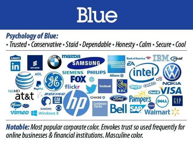 blue psychologyofblue �trusted�conservative�staid
