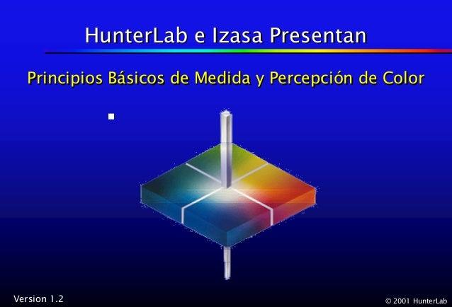 HunterLab e Izasa Presentan   Principios Básicos de Medida y Percepción de Color              Básicos             Percepci...
