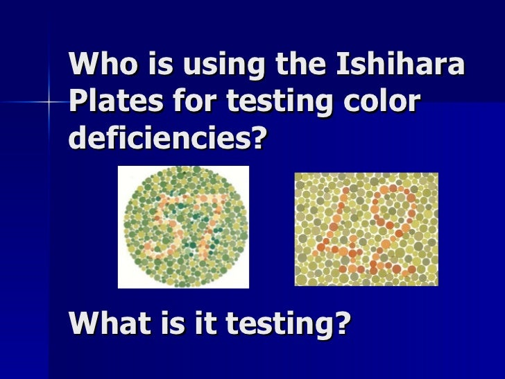 Color Vision Testing