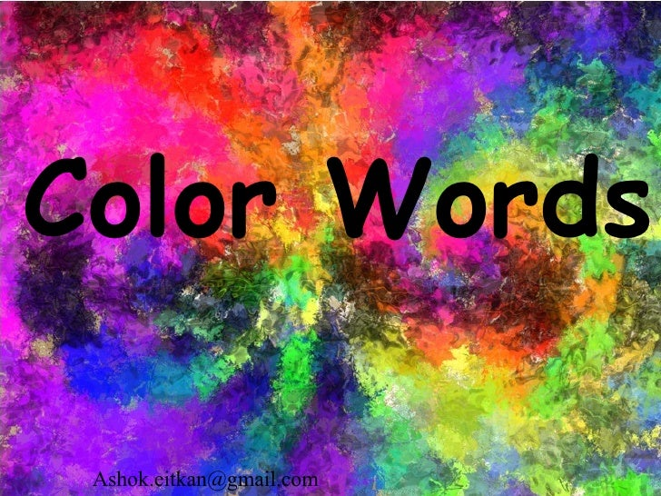 Color Words [email_address]