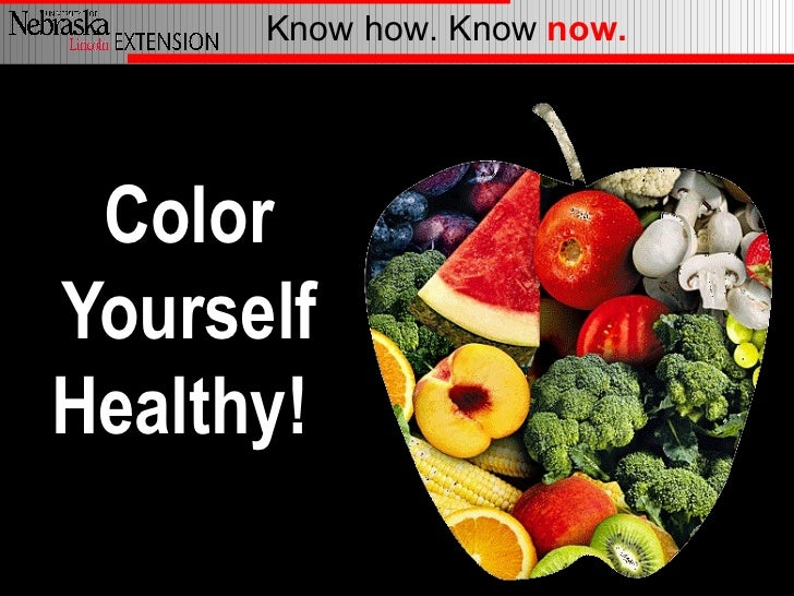 Know how. Know now. ColorYourselfHealthy!