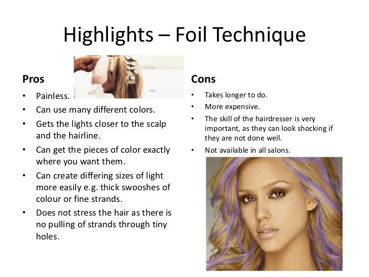 Hair Color Highlights Techniques