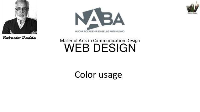 Mater of Arts in Communication Design  WEB DESIGN Color usage