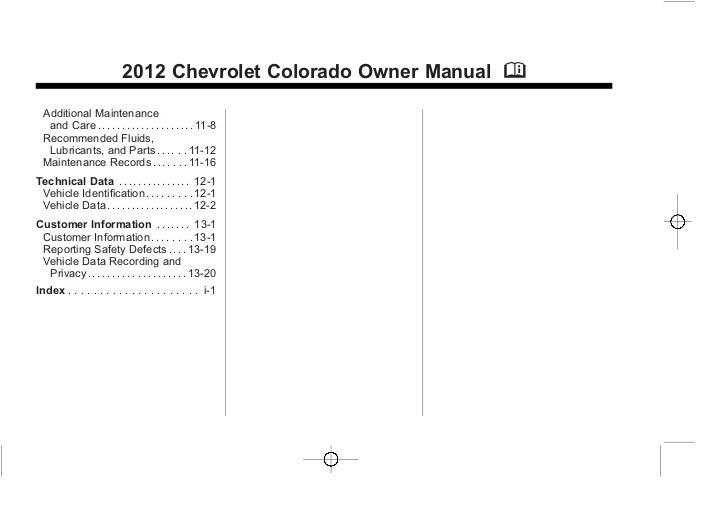 chevrolet colorado service manual