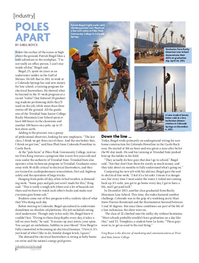 ColoradoCountryLife.coop 14  March 2014 [industry] BBelow the surface of the ocean or high above the ground, Patrick Bieg...