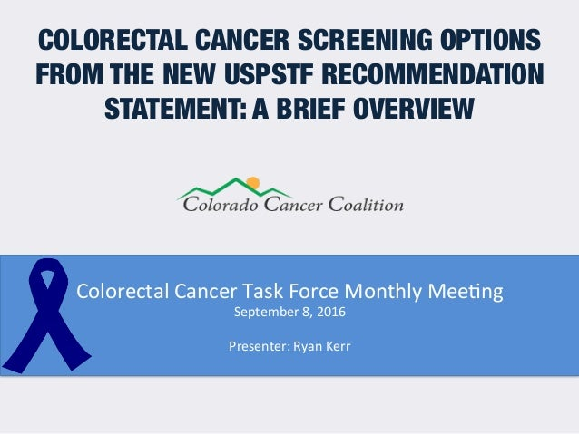 Understanding The Screening Options From The New Uspstf Colorectal Ca
