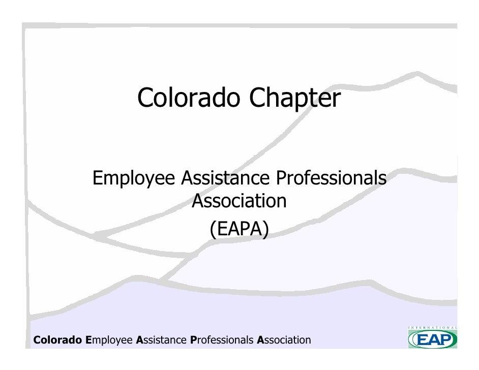 Colorado Chapter             Employee Assistance Professionals                      Association                        (EA...