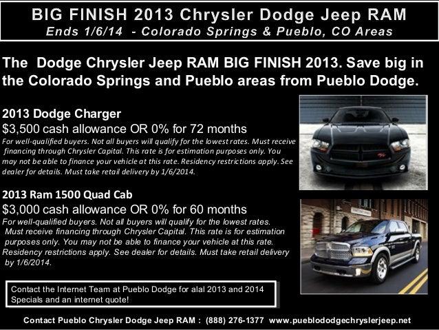 Chrysler Capital Finance >> Colorado Springs News L Big Finish 2013 Chrysler Dodge Jeep